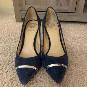 New! Vince Camino Blue Suede Pumps